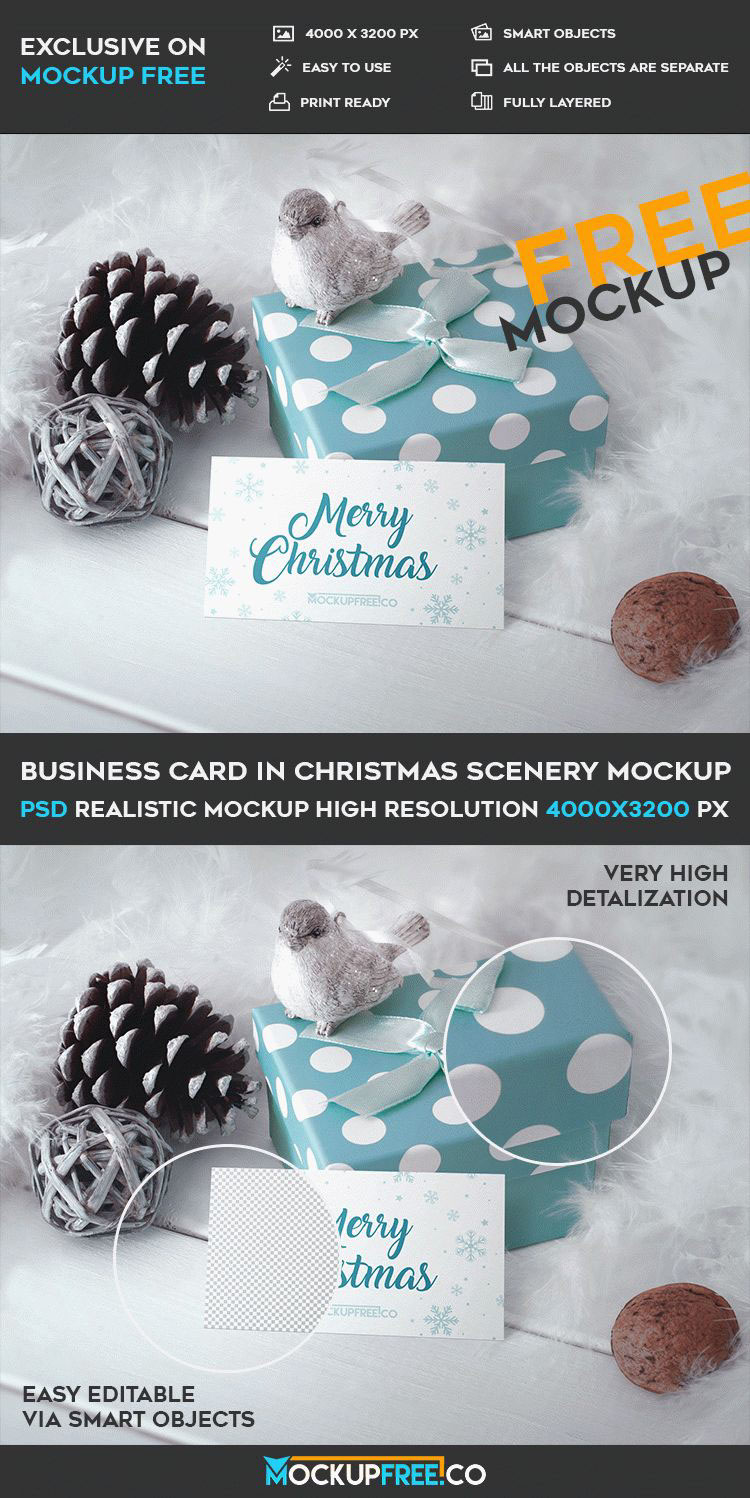Business card in christmas scenery free psd mockup on behance business card in christmas scenery it is awesome and very beautiful free psd mockup for christmas holidays and interesting ideas reheart Image collections