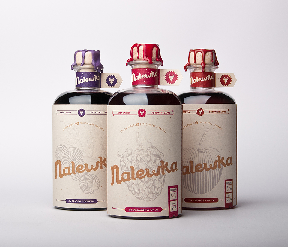 Nalewka spirit poland alcohol package design  foxtrot