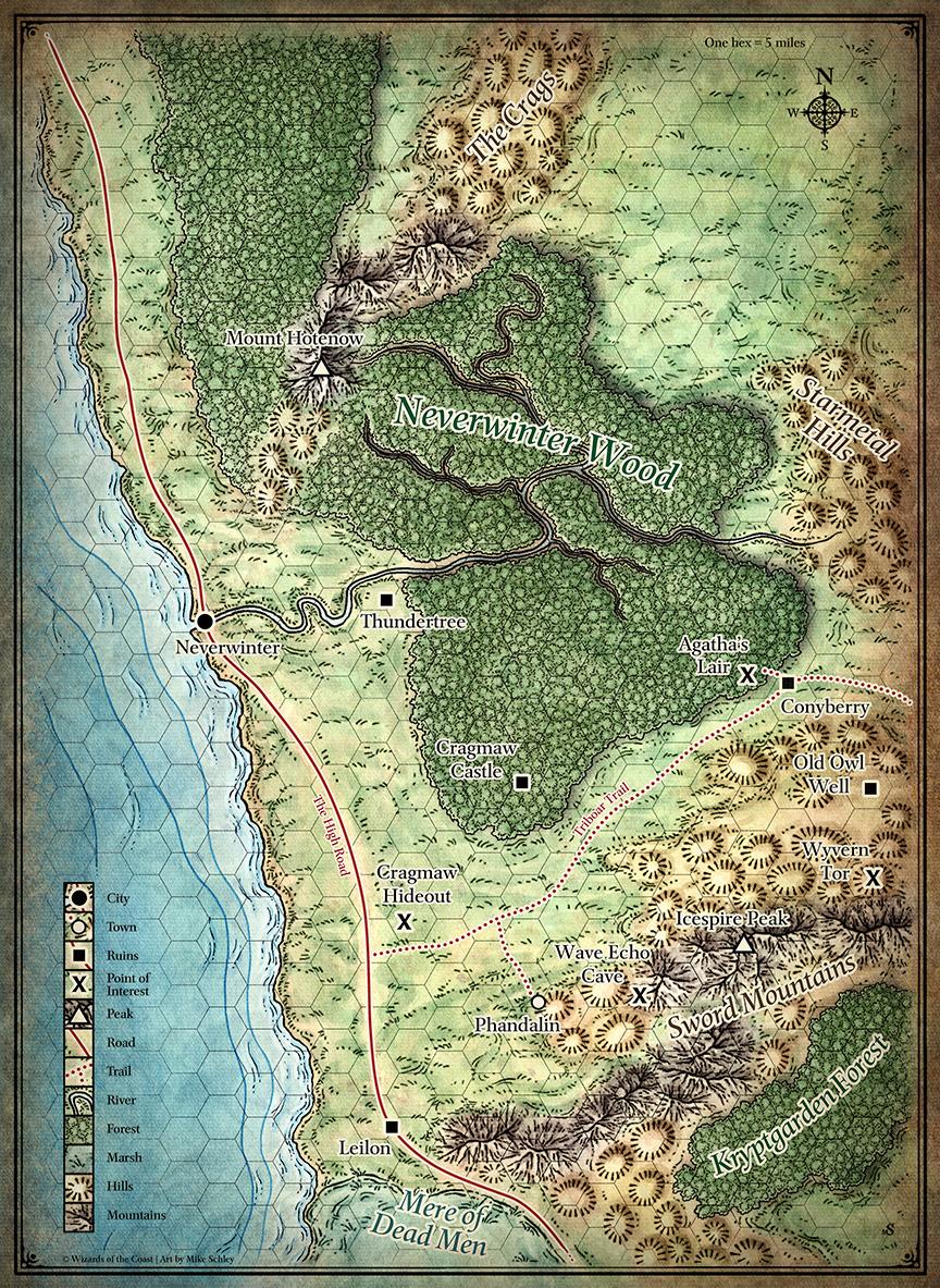 North Sword Coast Map
