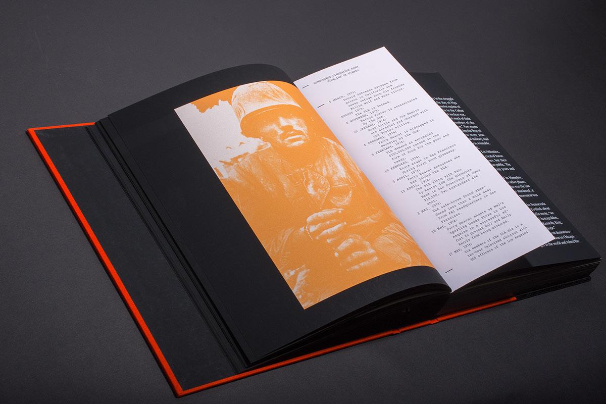 Karlo Fuertes Francisco,SLA,rebel yell,typography  ,graphic design ,Cultural Book,patty hearst,adobeawards,editorial,interaction