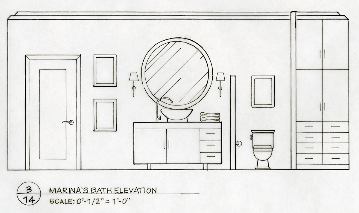 Detailed Elevation Drawings Kitchen Bath Bedroom On Behance