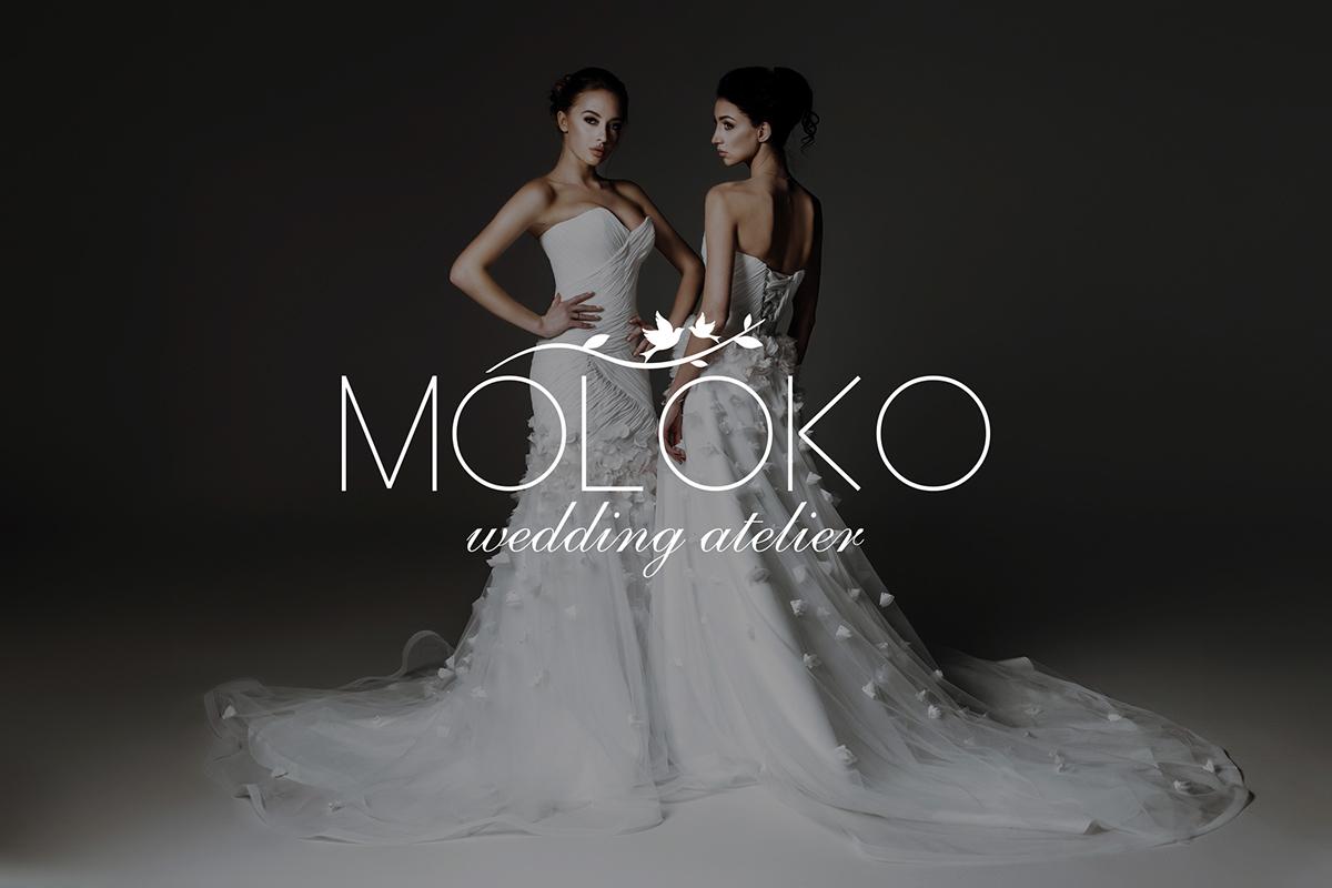 wedding Moloko atelier logo liflet design stile photo