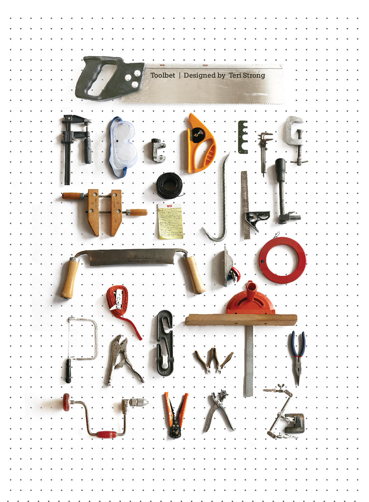 This Is My Visual Alphabet Poster Project For Art 235 The Assignment Was To Find Letters In Objects Without Overly Manipulating Create Them