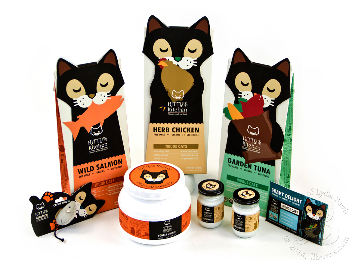 Kitty S Kitchen Cat Food Line On Behance
