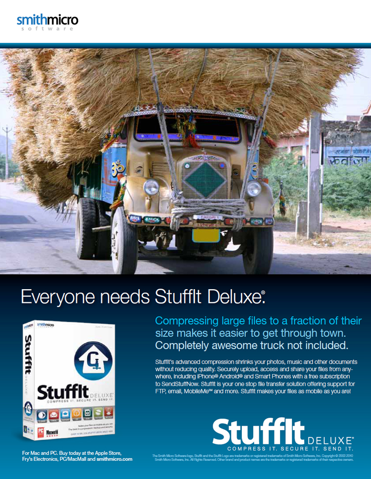 Advertising Concepts: Stuffit Deluxe on Behance