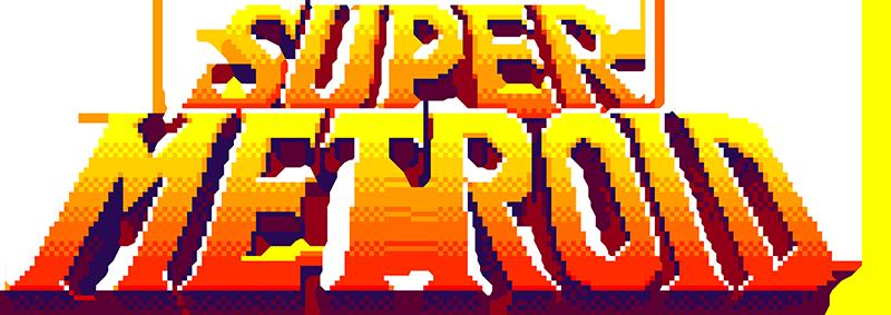 Super Metroid Logo Vector Lines