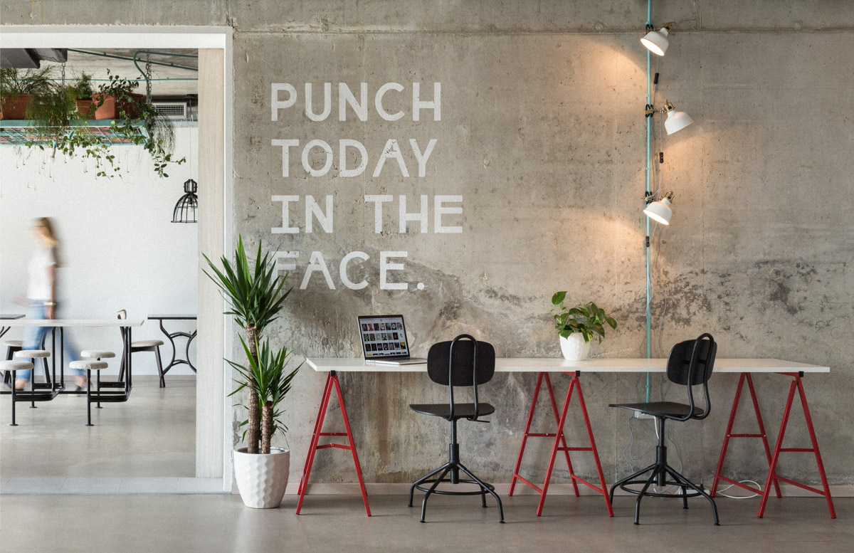 Wip coworking split on behance for Office design news