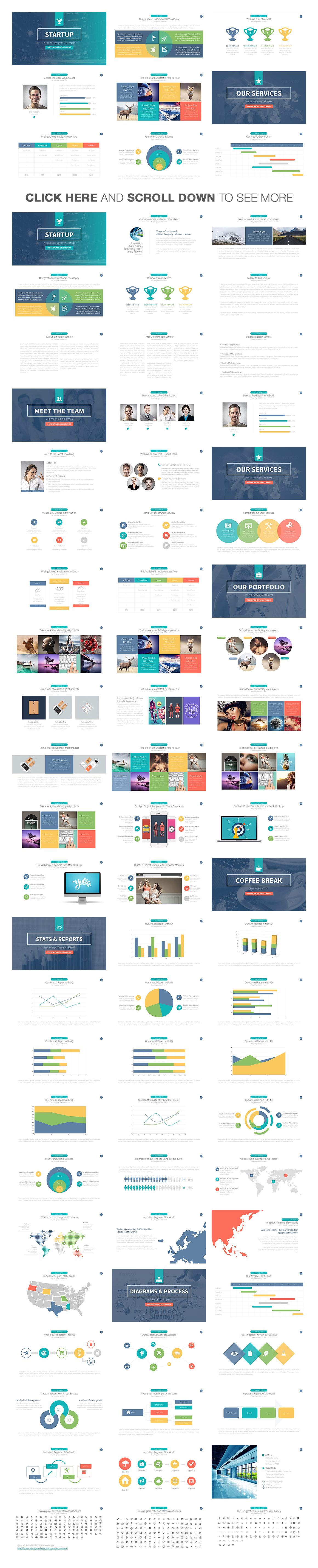 Startup powerpoint presentation template on behance startup powerpoint template is a new fresh modern clean professional ready to use creative and toneelgroepblik Images