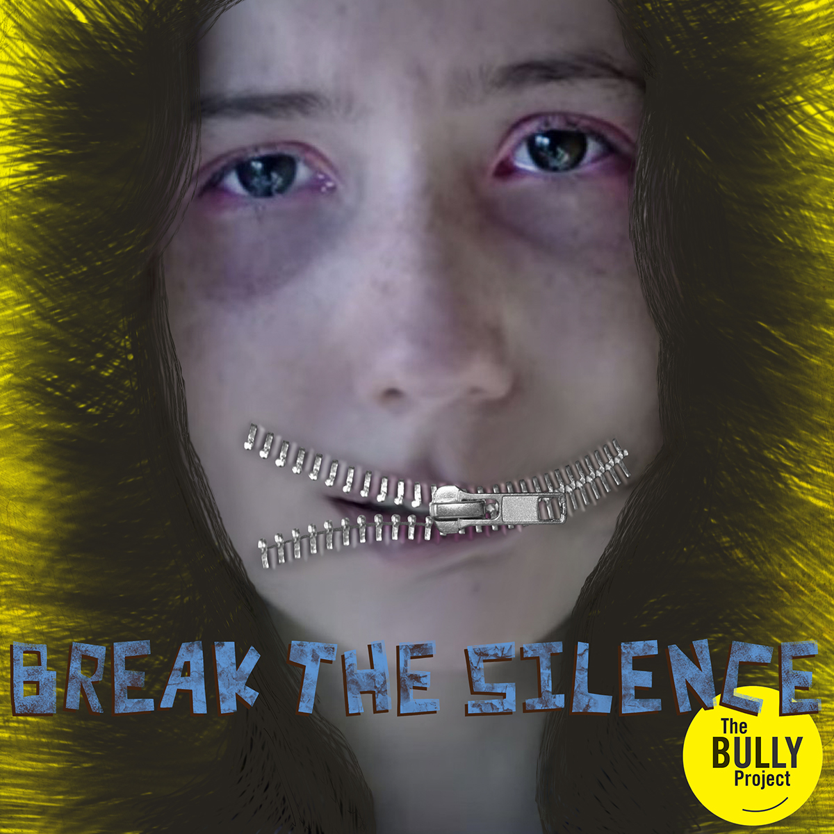 The Bully Project Mural Bully Project Mural bully face bullied Good Cause non profit movement bully awareness