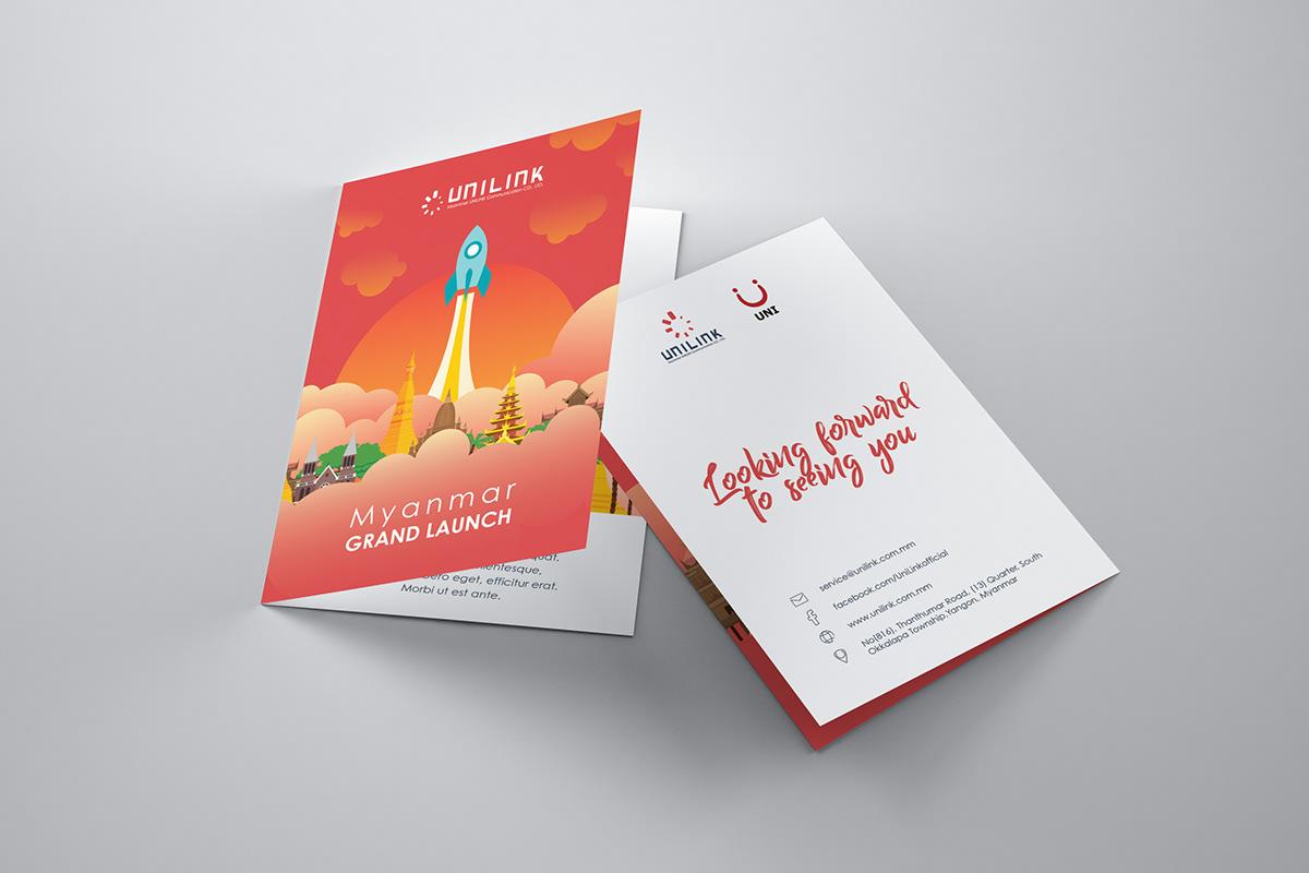 Unilink Myanmar Launch Campaign On Pantone Canvas Gallery