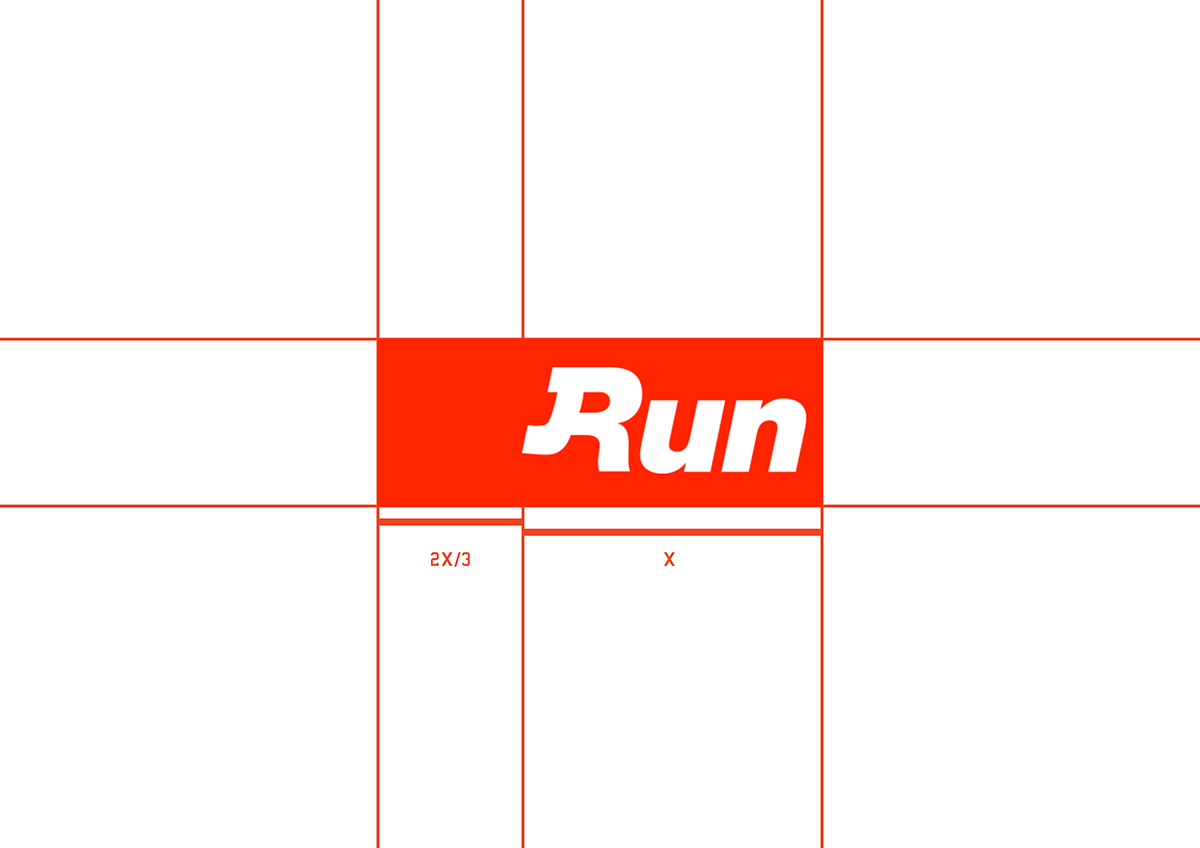 run sport community Logotype running sprint match orange navy college vs. Competition champ slide horizontal