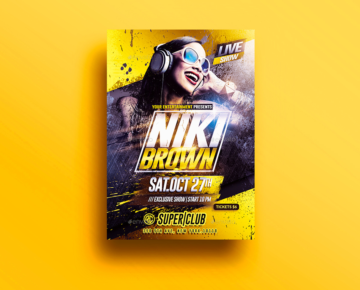 Dj NightClub Party | Psd Flyer Template on Behance