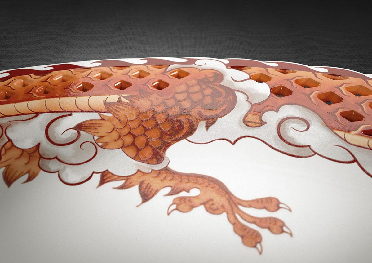 dragon chinese dragon dinner set tableware bone china porcelain