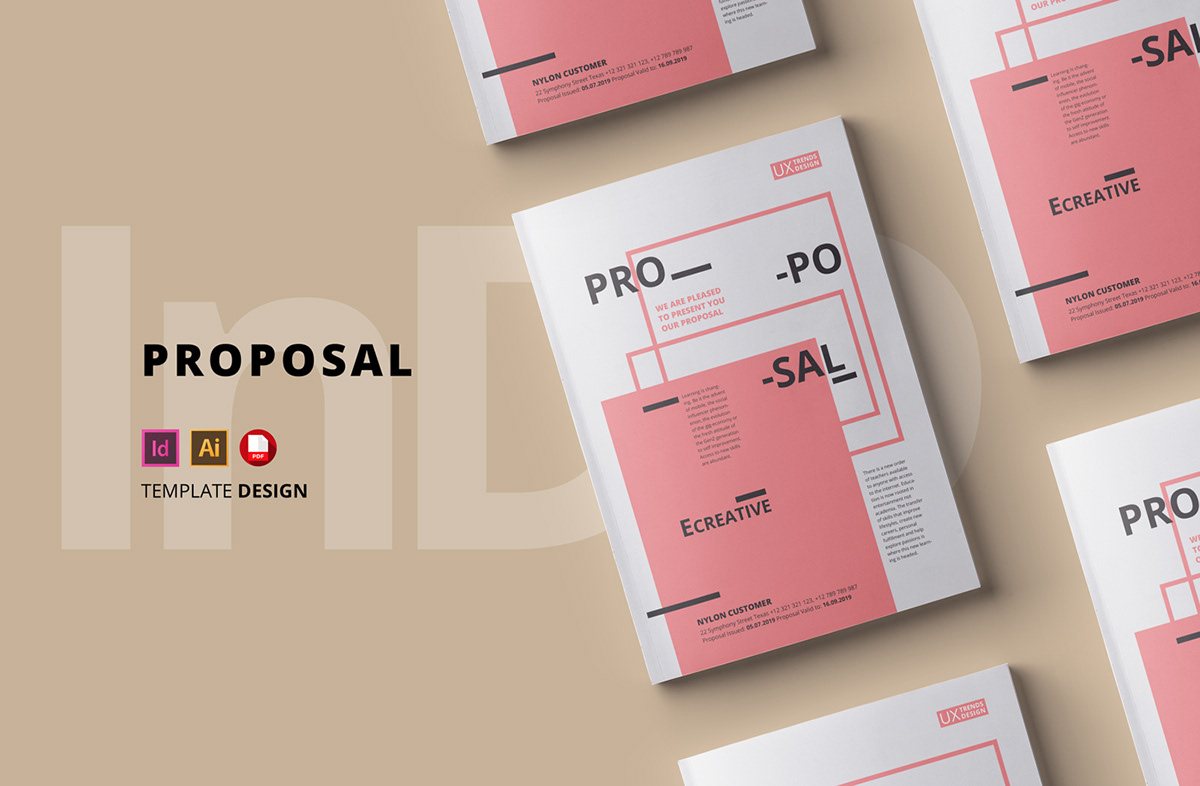 Proposal Template Sharp And Clean On Wacom Gallery