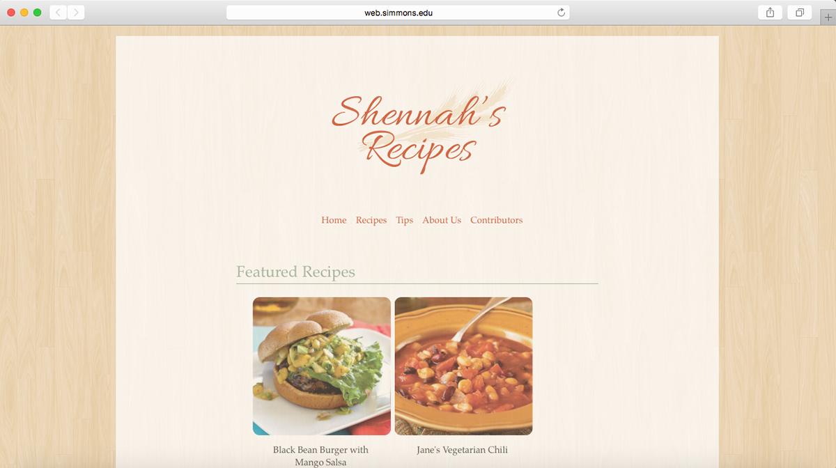 Recipe book website htmlcss design project on behance forumfinder Gallery