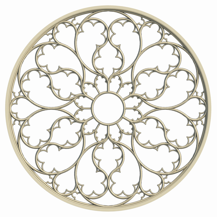 The 3D Model Is Available Here Elegant Gothic Rose Window