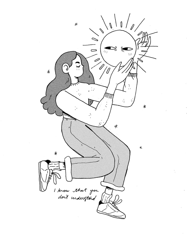 girl iphone smog Sun music