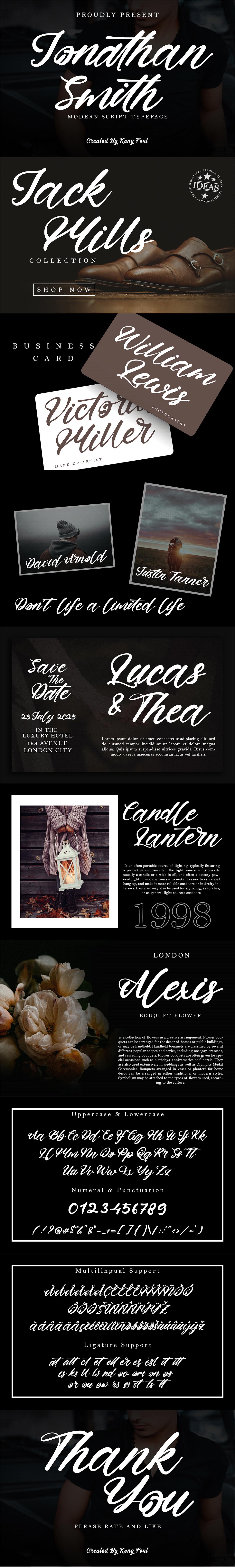branding  designfont font greetingcard jonathan smith lettering Logotype modern Script Typeface