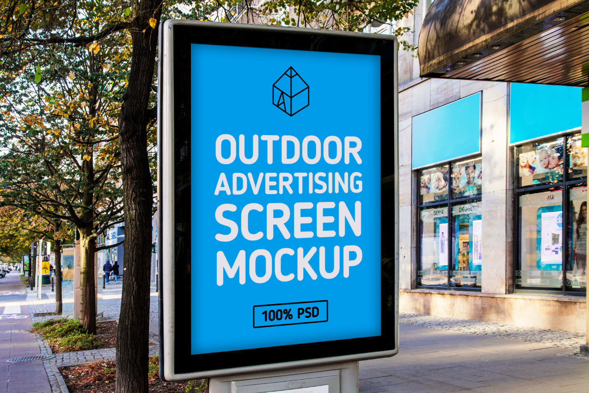 Design Your Own Home Landscape Free Outdoor Advertising Screen Mock Up On Behance