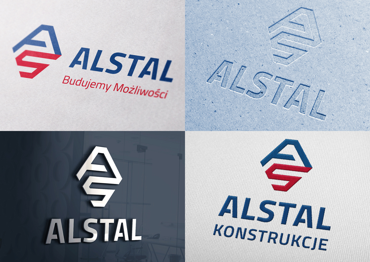 alstal logo identity polska poland building construction