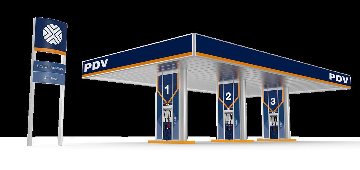 pdvsa venezuela oil Gas STATION Truck Tank worker brand identity