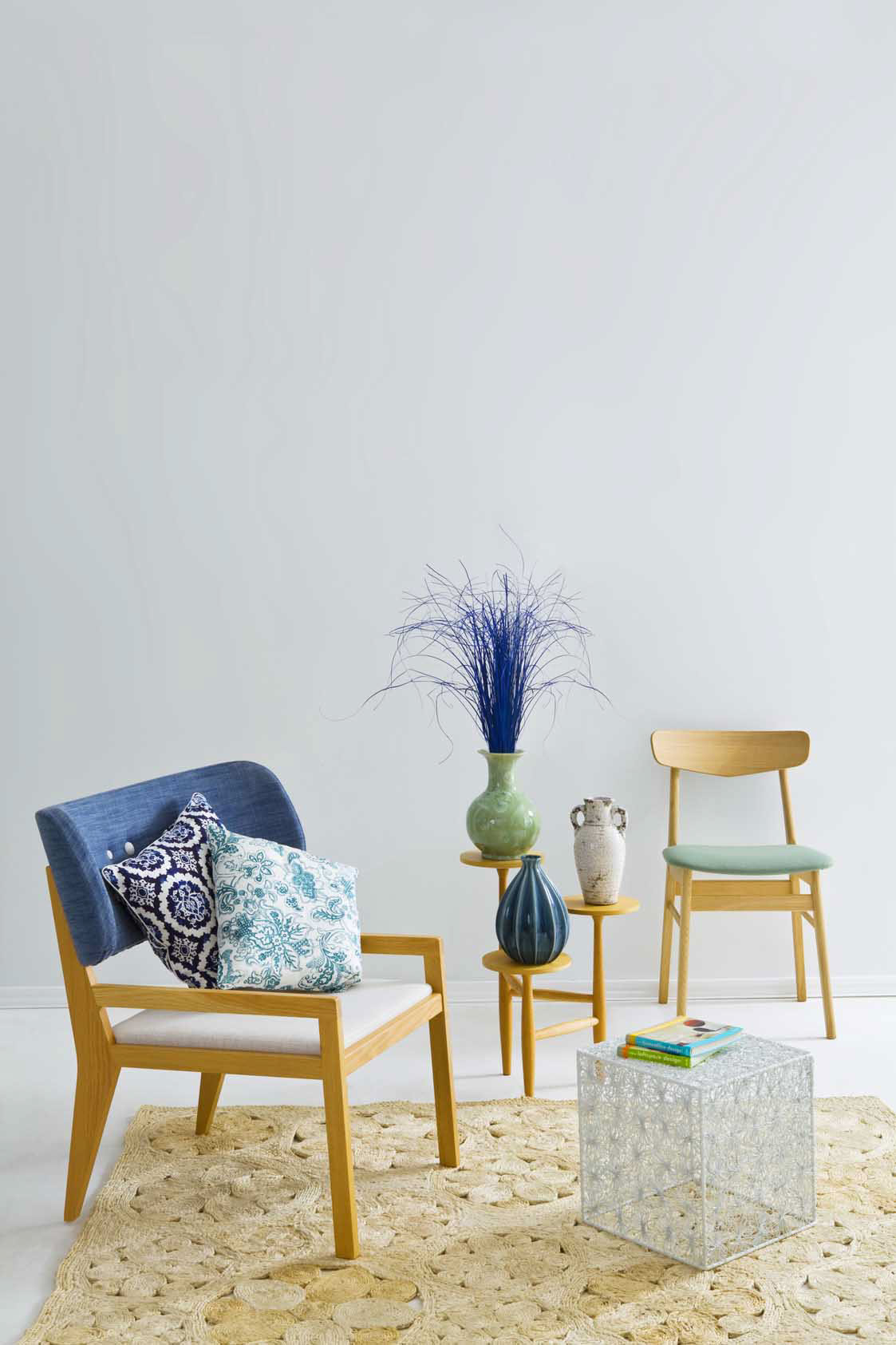 magazine Interior furniture light retouch colors still life product chair flower Coach table candel room house