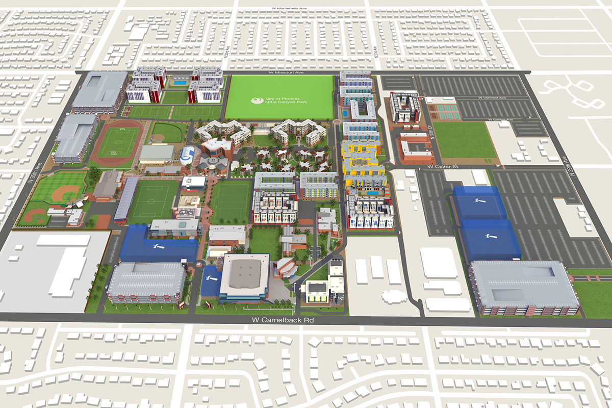 latest updates to the gcu campus map. gcu interactive campus map on behance