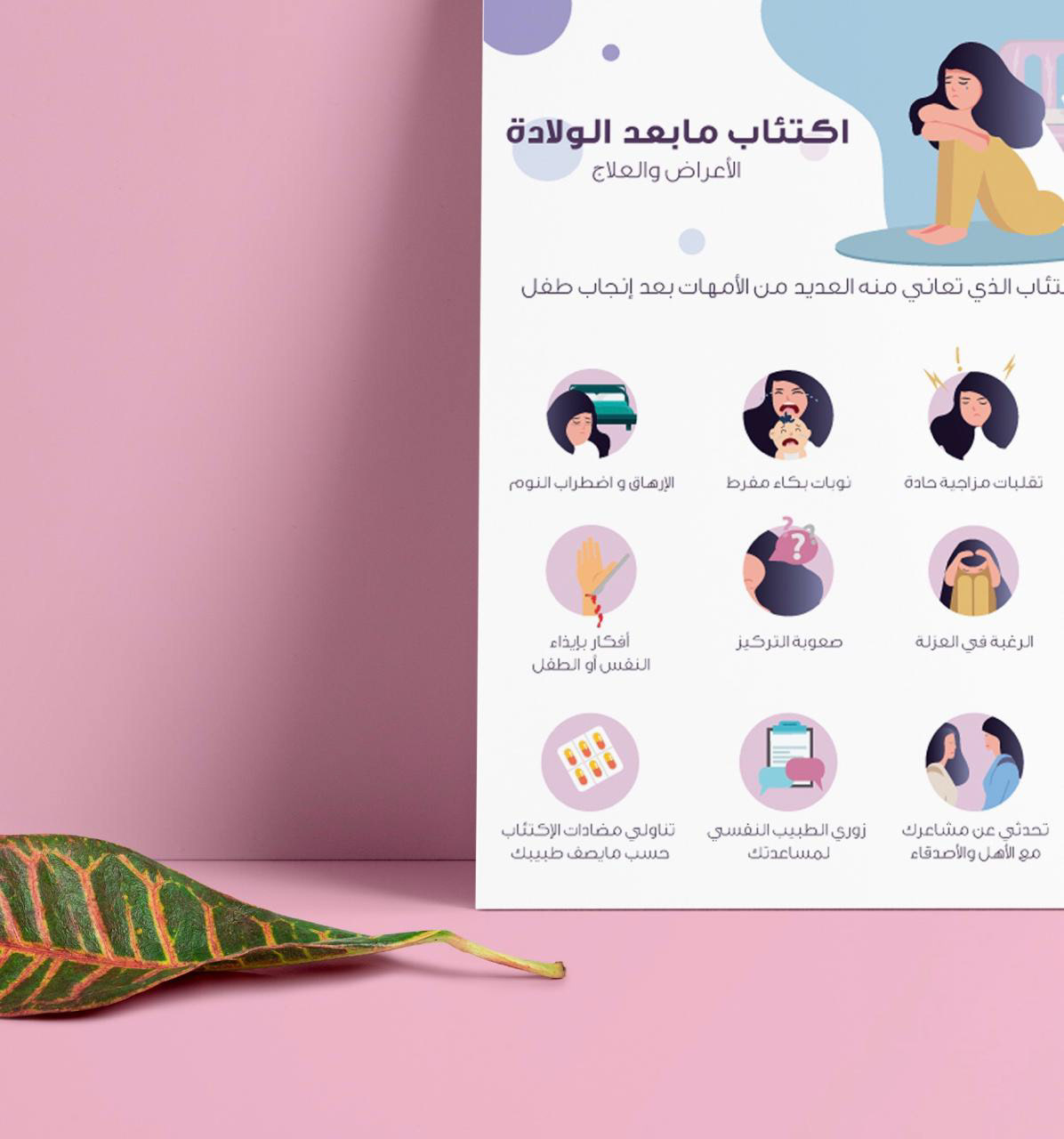 Postpartum depression- infographic - Waai Award on Behance