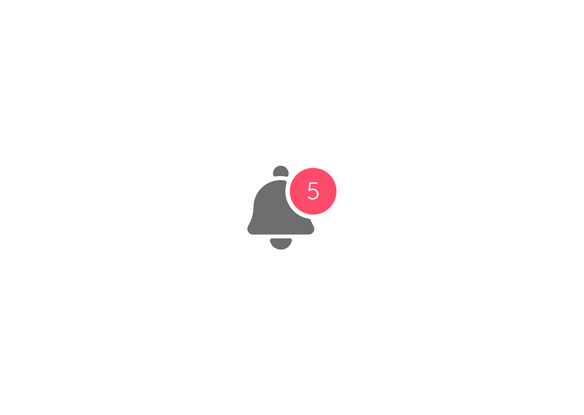 Notifications Icon app mobile logo design UI Interface bell ring