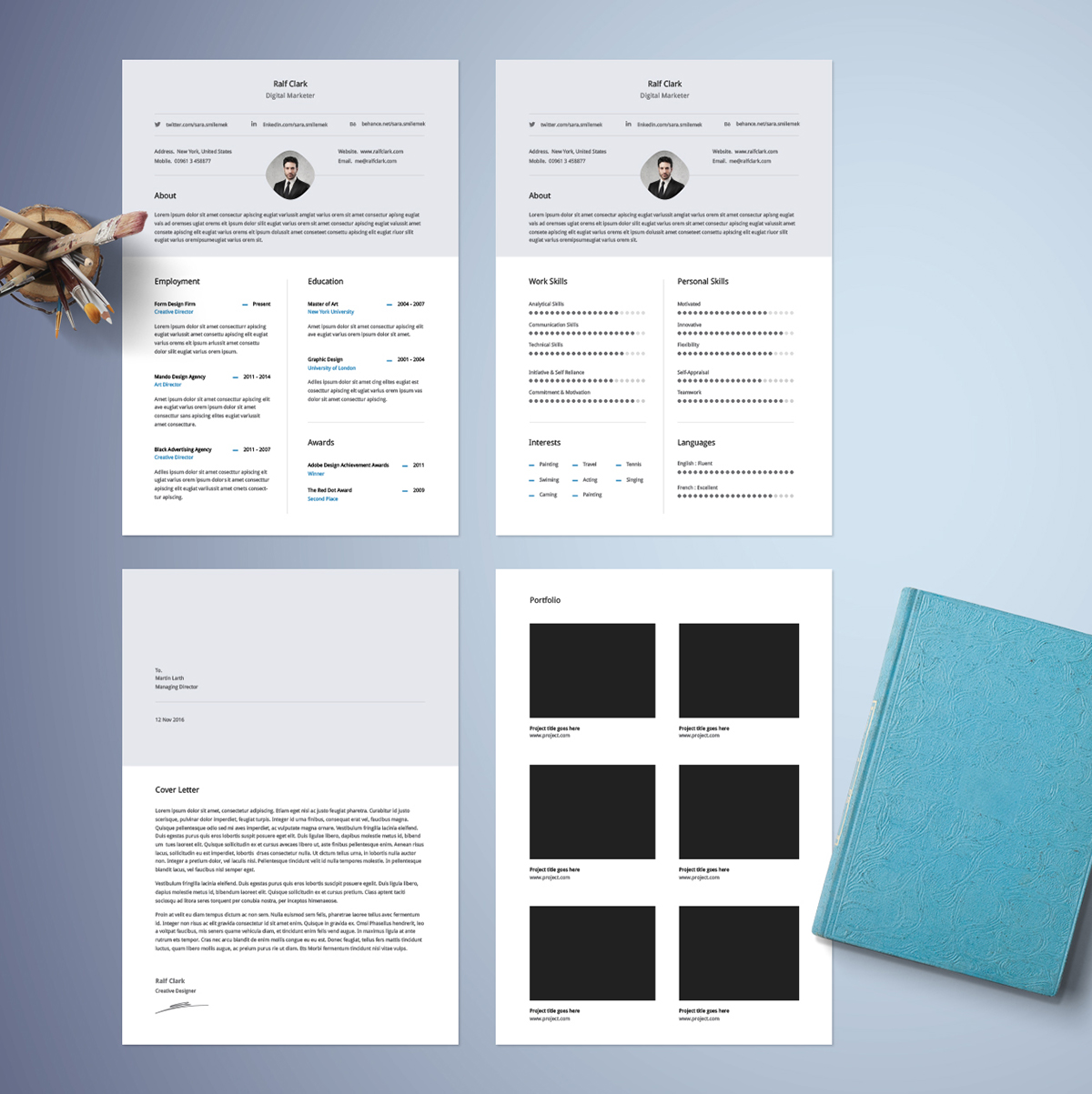 Best free resume templates on behance infographic resume template pronofoot35fo Images