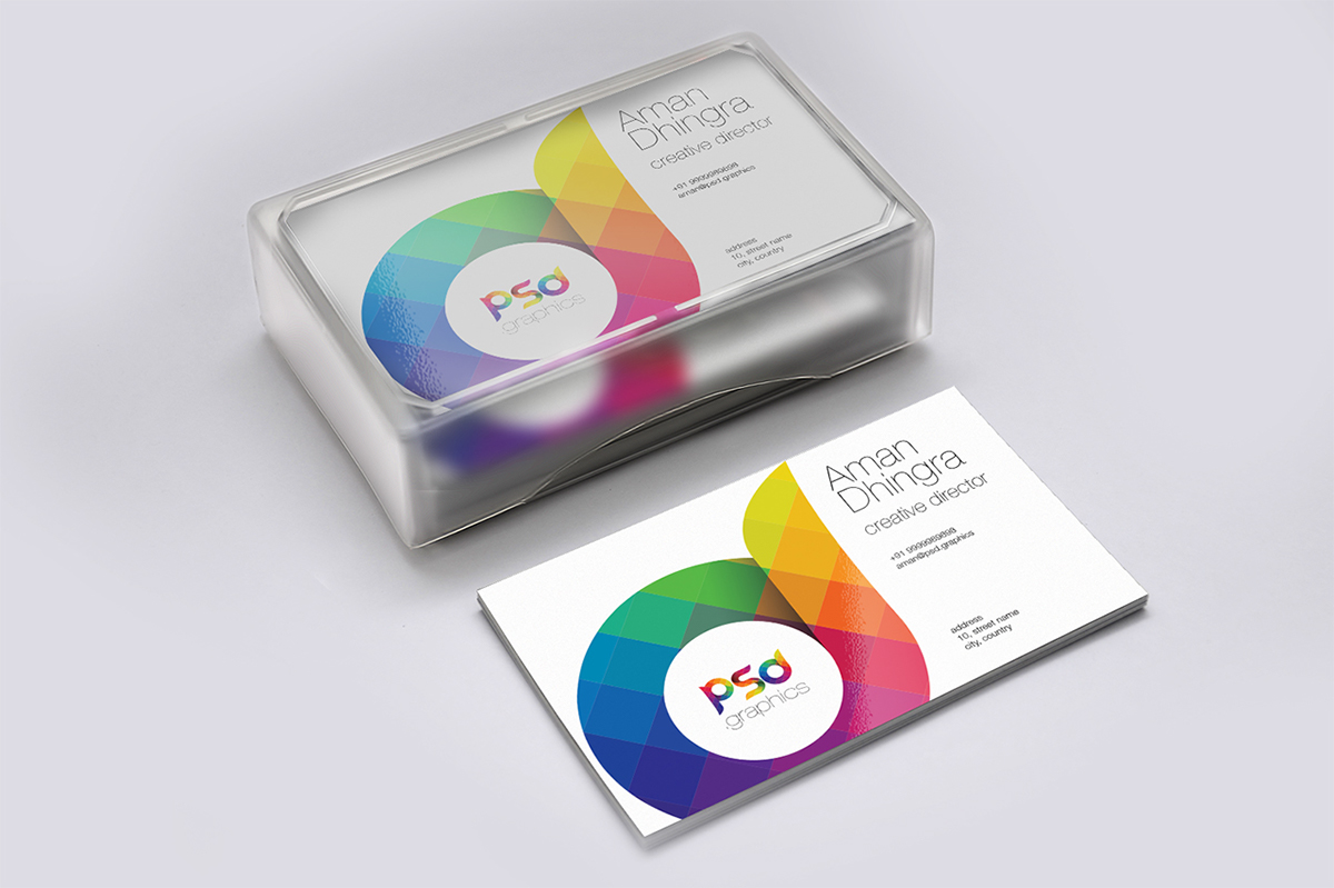 Freebie: Business Card Mockup Free PSD Graphics on Behance