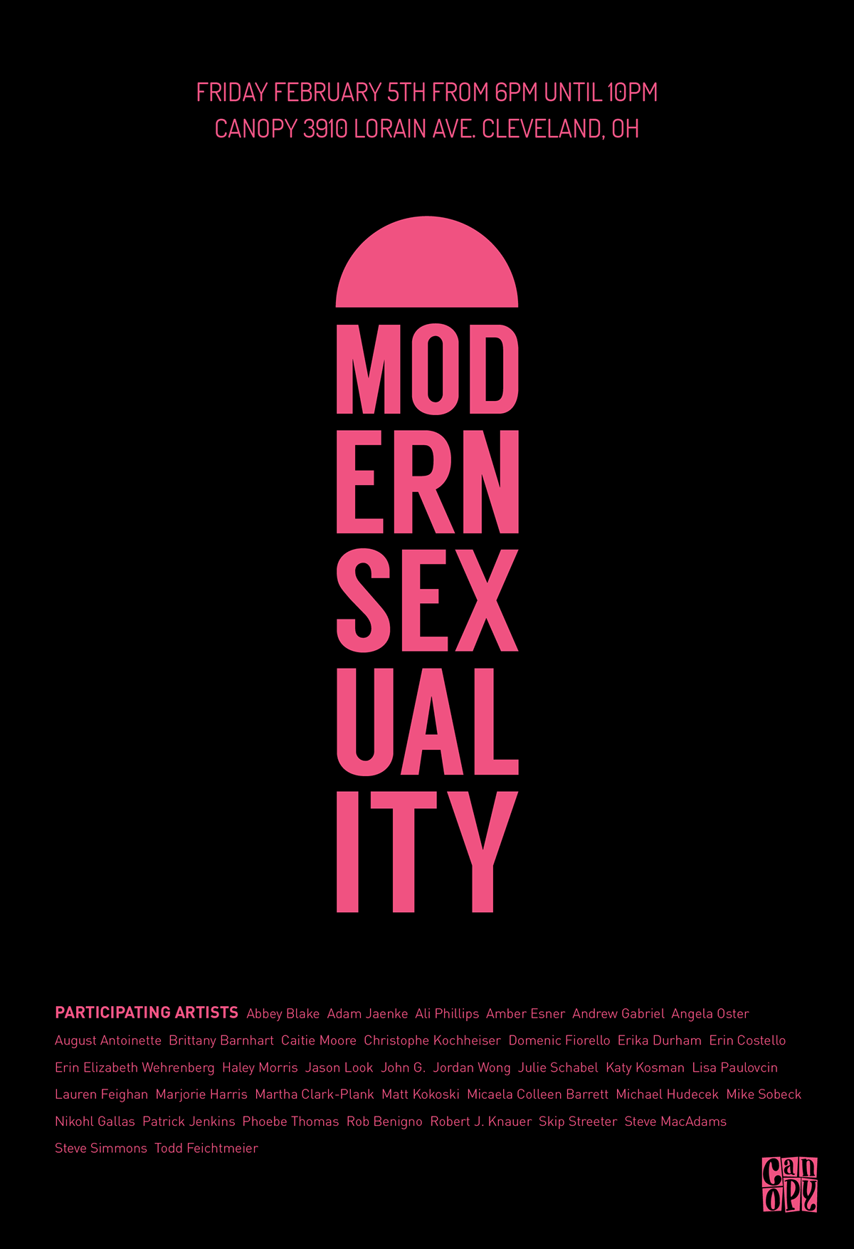 Poster design exhibition - Poster Design For Canopy Collective S Modern Sexuality Exhibition