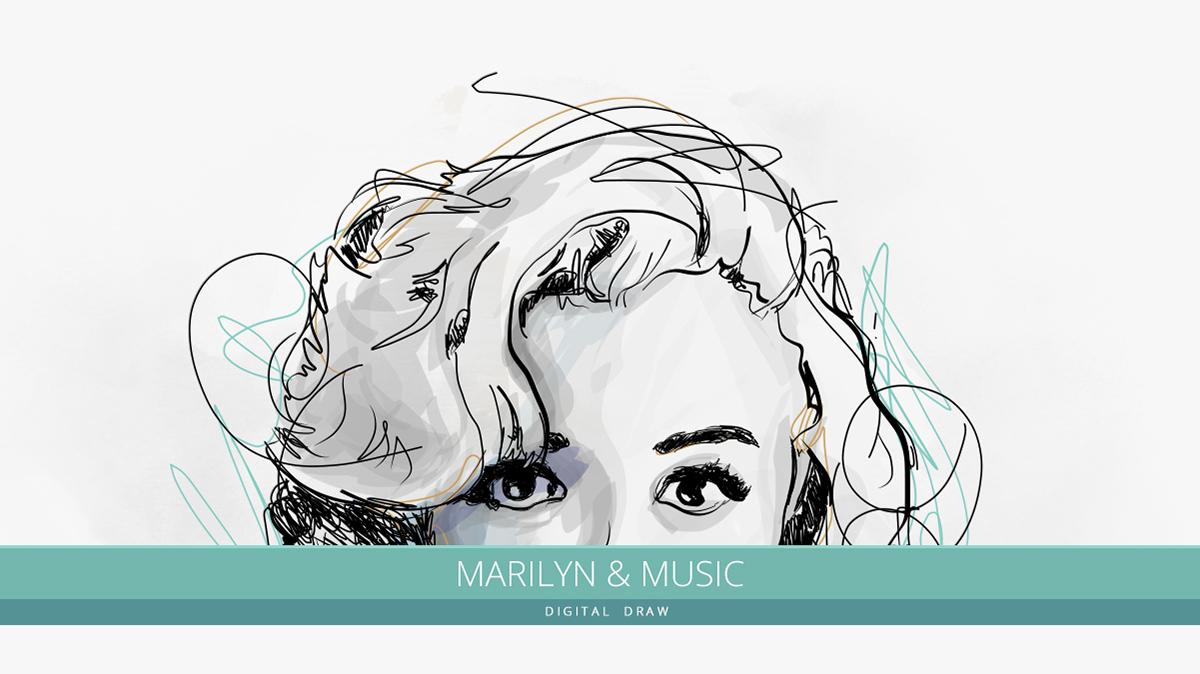 wacom Intuos stylus adobe draw marylin sketch iPad Enrico Manini