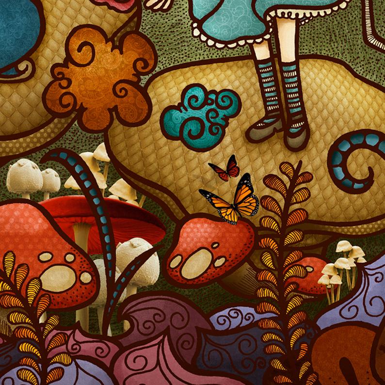 alice in wonderland alice 150 Alice  art arte ILLUSTRATION  Ilustração livro ilustrado país das maravilhas