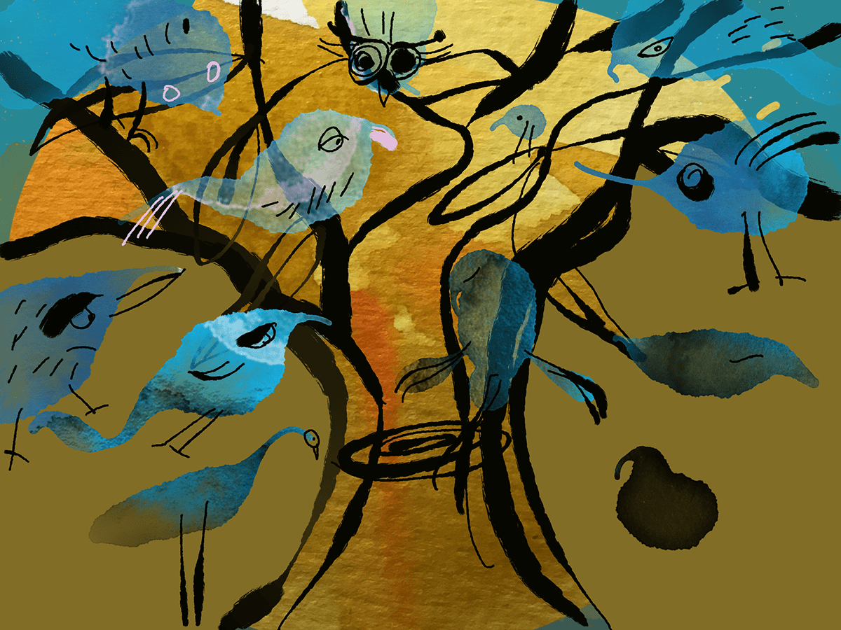 art artwork Digital Art  digital painting Drawing  ipad pro painting   prints sketches trees