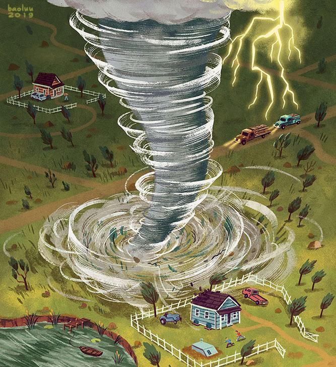 baoluu dry Hot rain snow storm tornado waves weather usborne