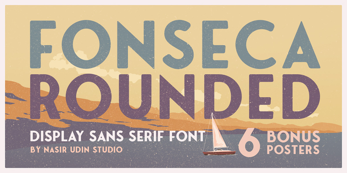 Fonseca Rounded - Display Sans Serif on Student Show