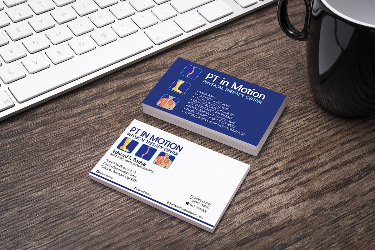 Business card design for pt in motion on behance business card design for pt in motion physical therapy center a high quality physical theraphy center opened by mredward badua colourmoves