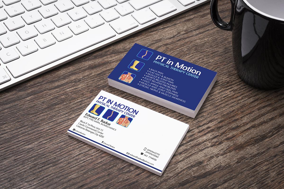 Business Card Design for PT in Motion on Behance