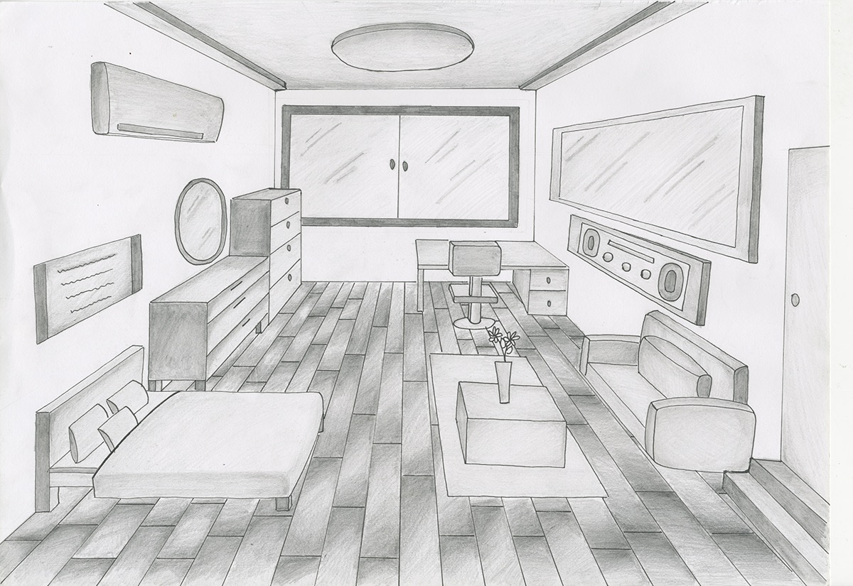 Dream room drawing images galleries for Draw my room