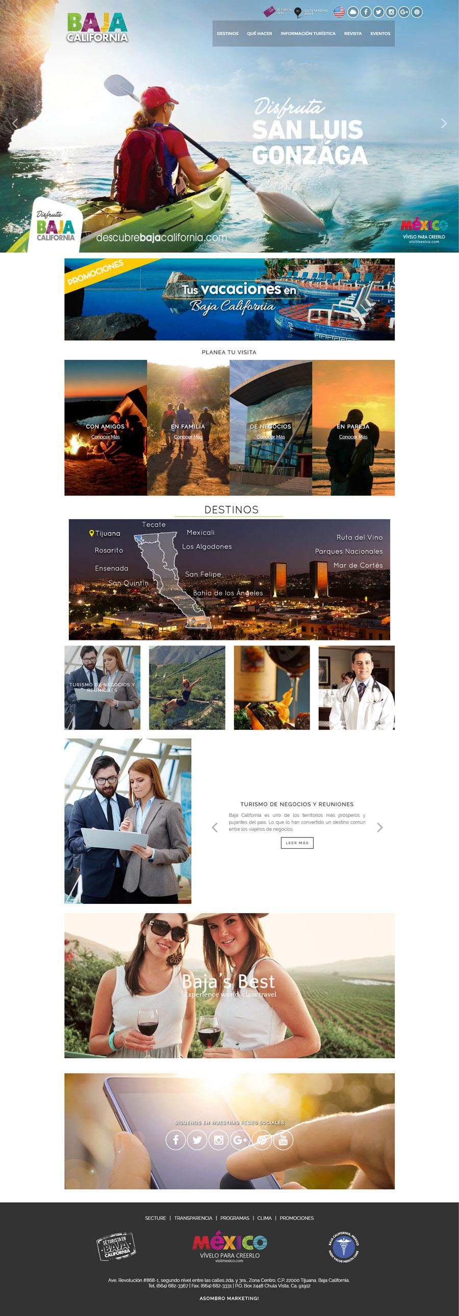 Turismo tourism marketing turistico  mexico baja california Web Architecture Web Design