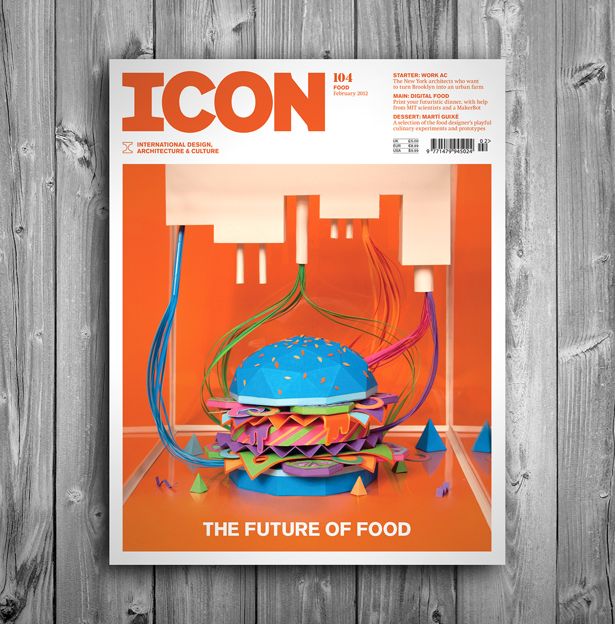 zim&zou Icon burger future icon eye magazine cover paperart Food  paper Style art clean detail
