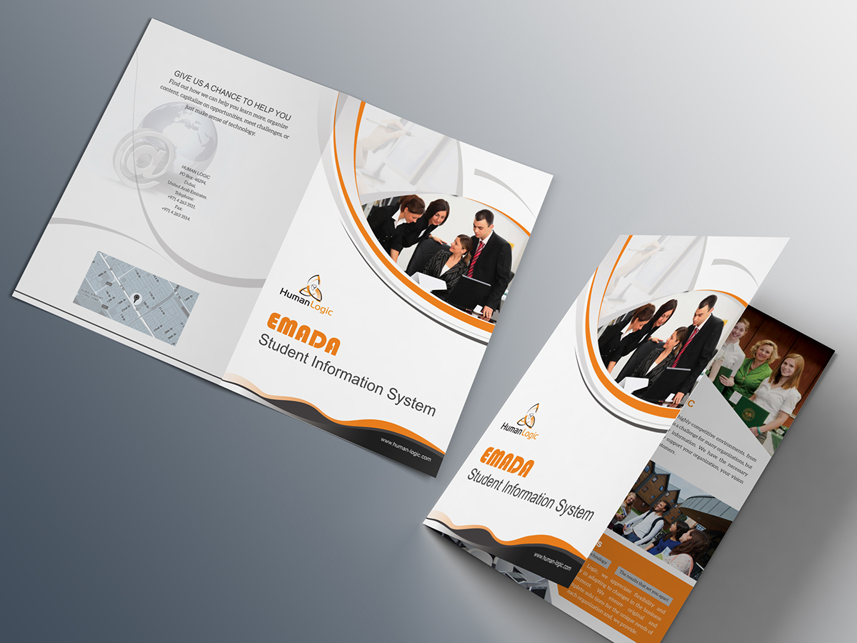 free bi fold brochure psd on behance