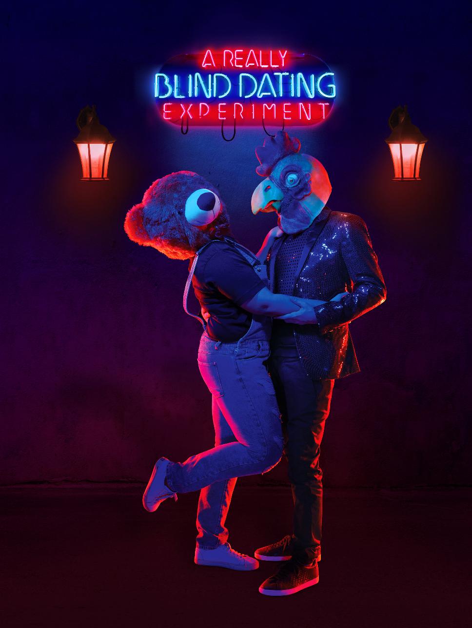 Dating Blind Date Speed Dating blindfold Mtv reality dark neon uv lights animals mask