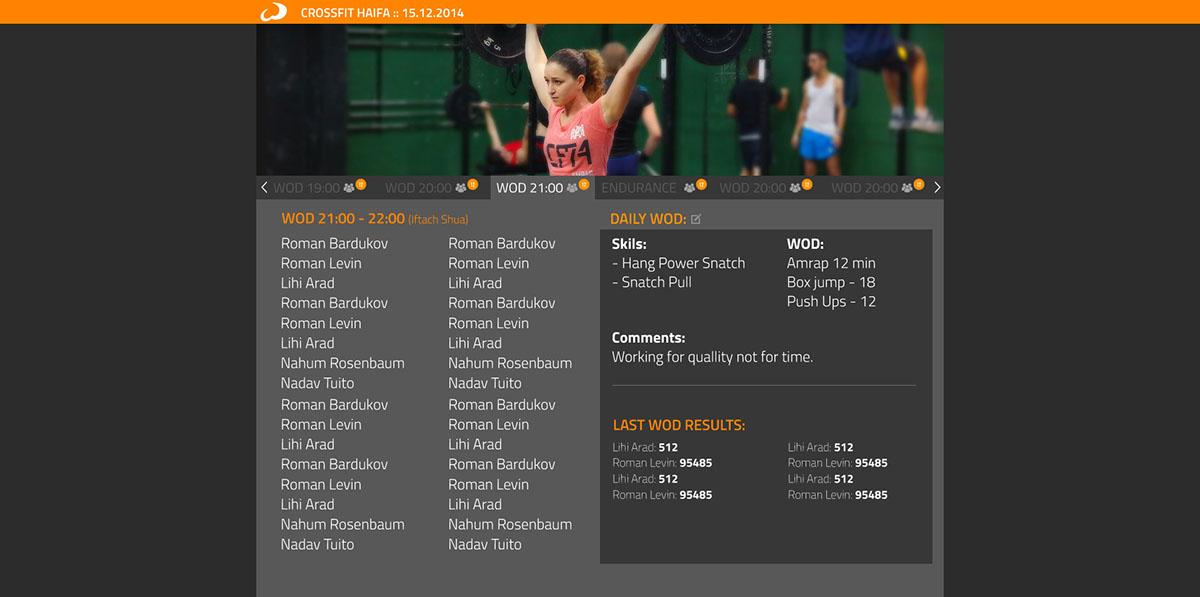 CRM Crossfit UI ux sport wodox system app design