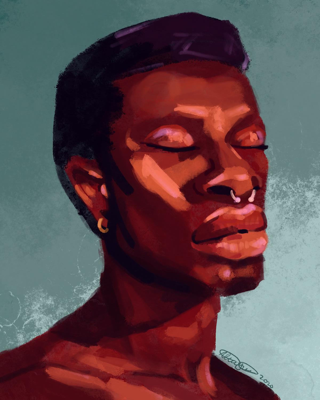 ILLUSTRATION  colour digitalpainting Loose men Nature nonbinary portrait Procreate women