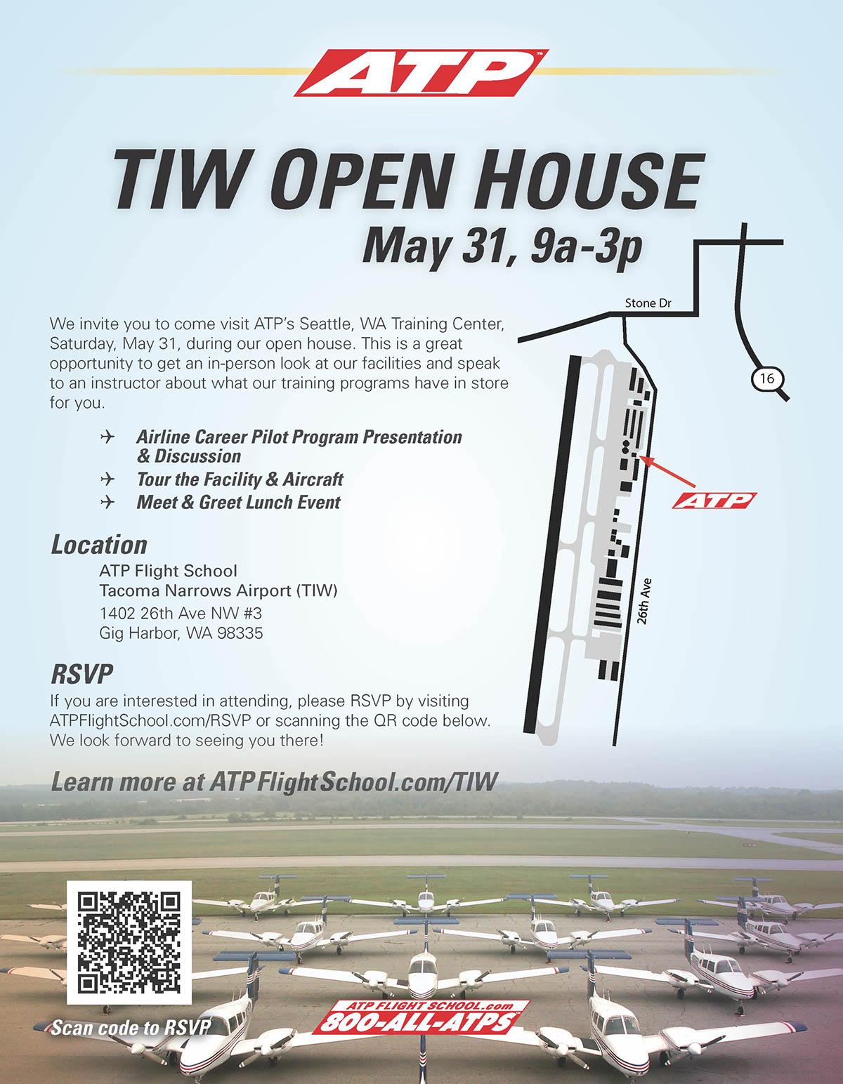 Atp Flight School Open House Flyer On Behance