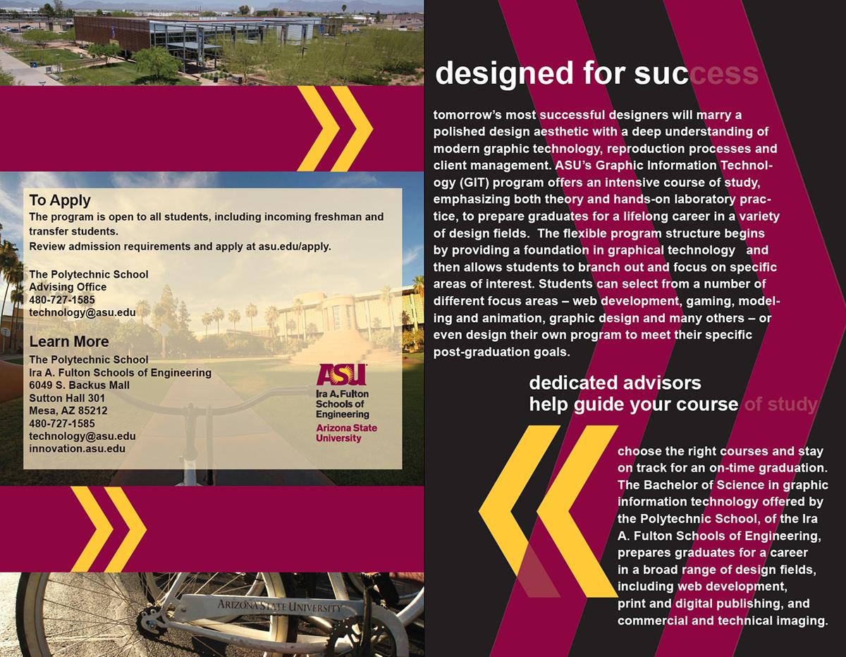 Phenomenal Brochure Arizona State University On Behance Download Free Architecture Designs Intelgarnamadebymaigaardcom