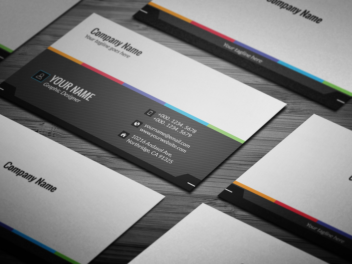10 free professional generic business card templates on student show appealing business card download here wajeb Choice Image