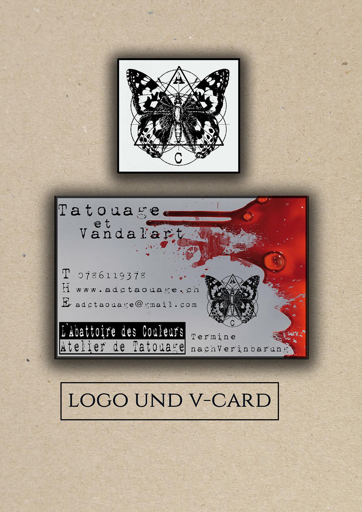 Business Card Tattoo Shop On Behance